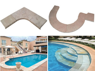 Swimming pool edges
