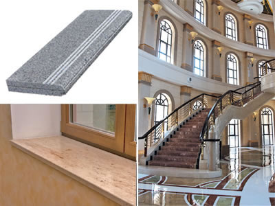 Steps and window sills