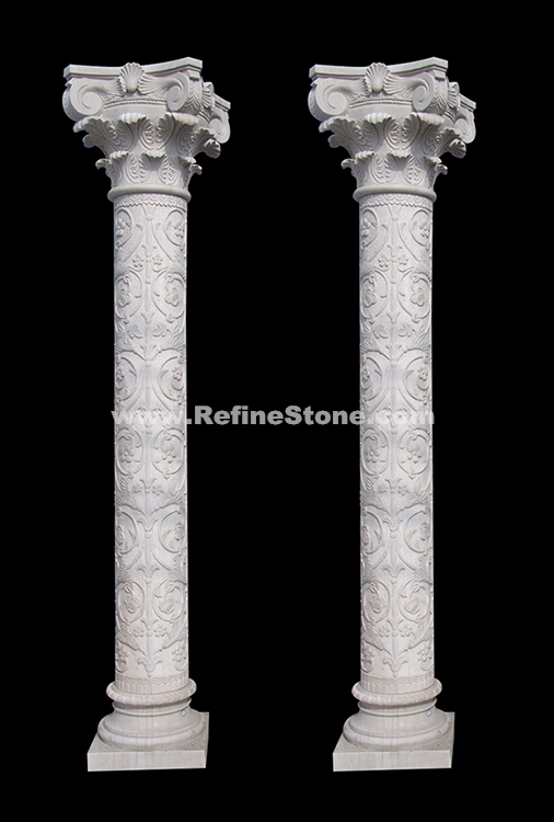 Marble Carving Pillar